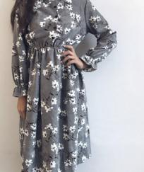Robe imprimée fleuri velours boho bohème chic DRESS1502