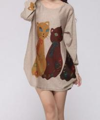 Tunique chats boho boheme chic TUNIC0063