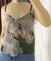 Top big flowers boho boheme chic TOP0482