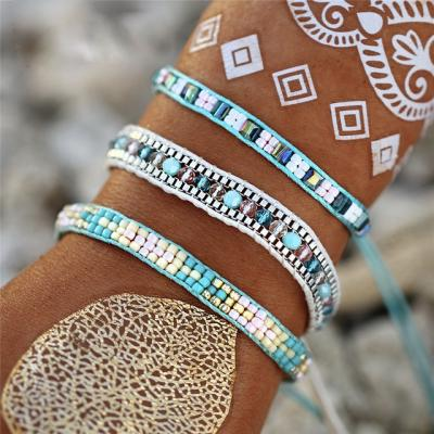 Bracelet 3 rangs boho boheme chic BANGLE0533