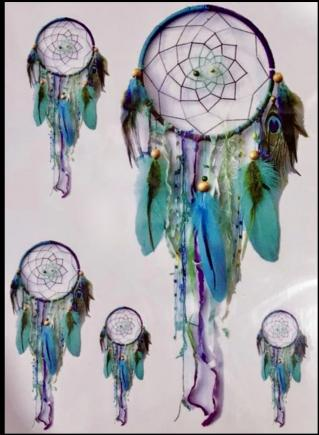 Tatouage temporaire Dreamcatchers boho bohème chic TATTOO0359