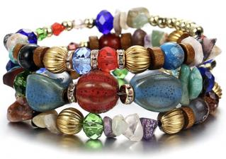 Bracelet multi rangs boho boheme chic BANGLE0558