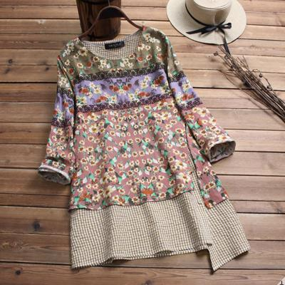 Tunique imprimée liberty boho boheme chic TUNIC0502