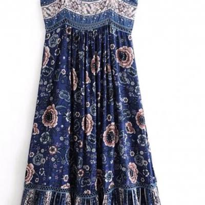 Robe imprimée boho boheme chic DRESS1642