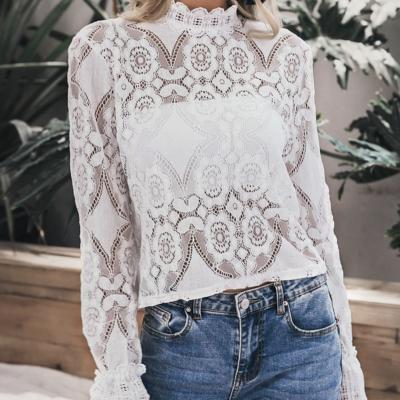 Top dentelle blanc cassé boho boheme chic TOP0513
