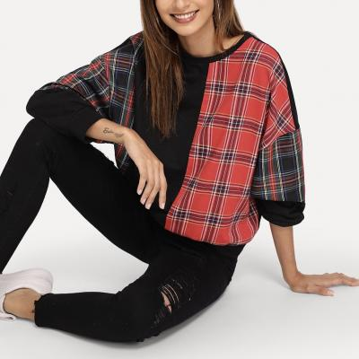 Top plaid boho boheme chic BLOUSE0516