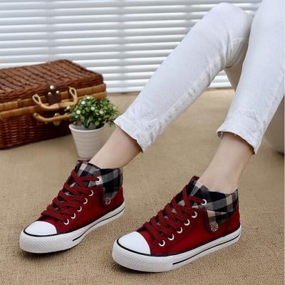 Chaussures style tennis plaid boho boheme chic shoes0077