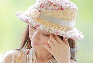 Gentlewoman lacework floral straw hat flat topped fedora derby hat travel cap