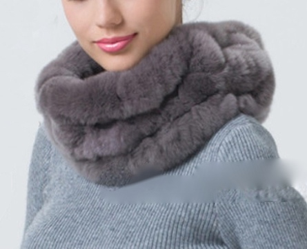 Hot sale real fur scarf female handmade genuine rex rabbit fur scarf women winter fur wraps 1