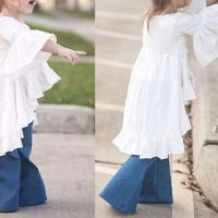 Hot sale retail ins children girls vintage ruffles dresses baby girl clothes for spring and summer