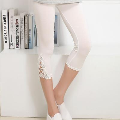 LEGGINGS 3/4 BAS DENTELLE BOHO CHIC BOHEME P0034