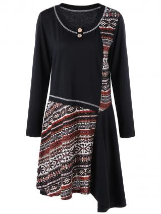 Robe imprimé ethnique boho boheme chic DRESS1455