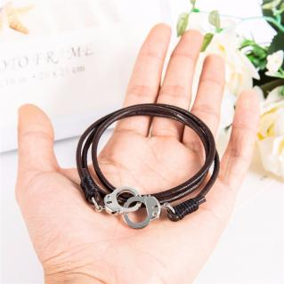 Bracelet cuir menottes mixte boho boheme chic BANGLE0499