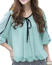 TOP BLOUSE MOUSSELINE BOHO BOHEME CHIC F0161 40/46