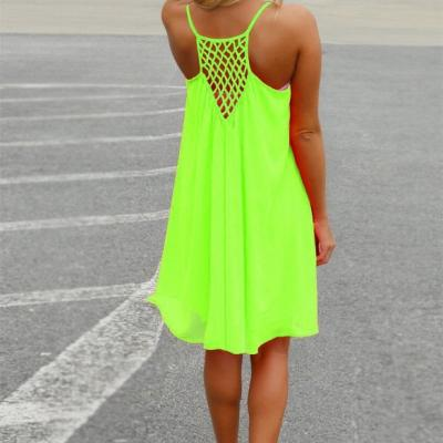 Robe fluo ample boho bohème chic DRESS1544