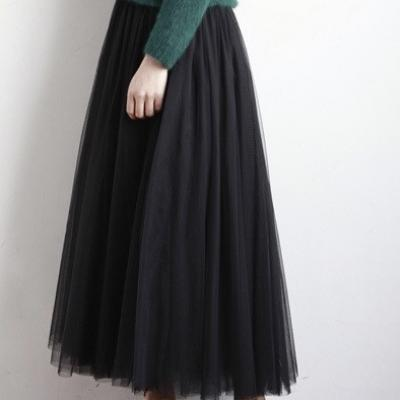 Jupe jupon tulle mi long boho boheme chic skirt0105