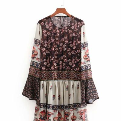 Robe imprimée fleurie boho boheme chic DRESS1510