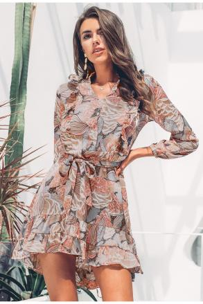 Robe imprimée vintage boho boheme chic DRESS1624