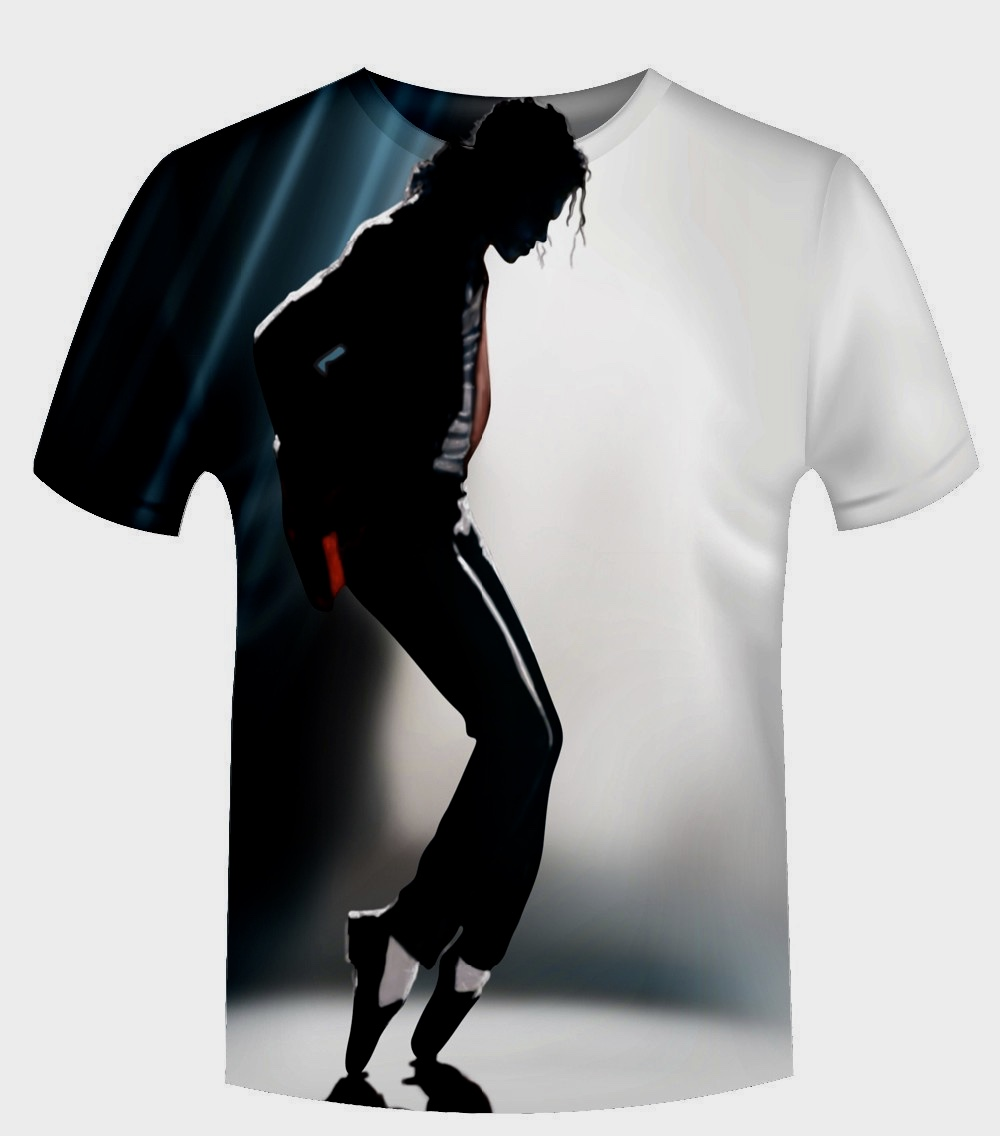 New fashion 2015 men women 3d t shirt print michael jackson concert oil paint t shirt