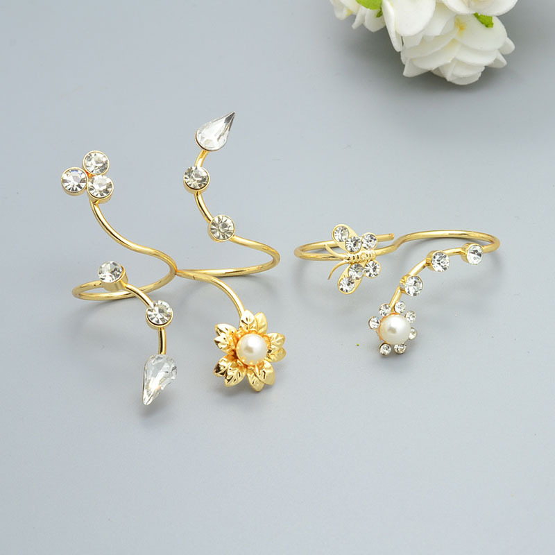 New fashion accessories jewelry rhinestone ring set for women girl nice gift r1493 1