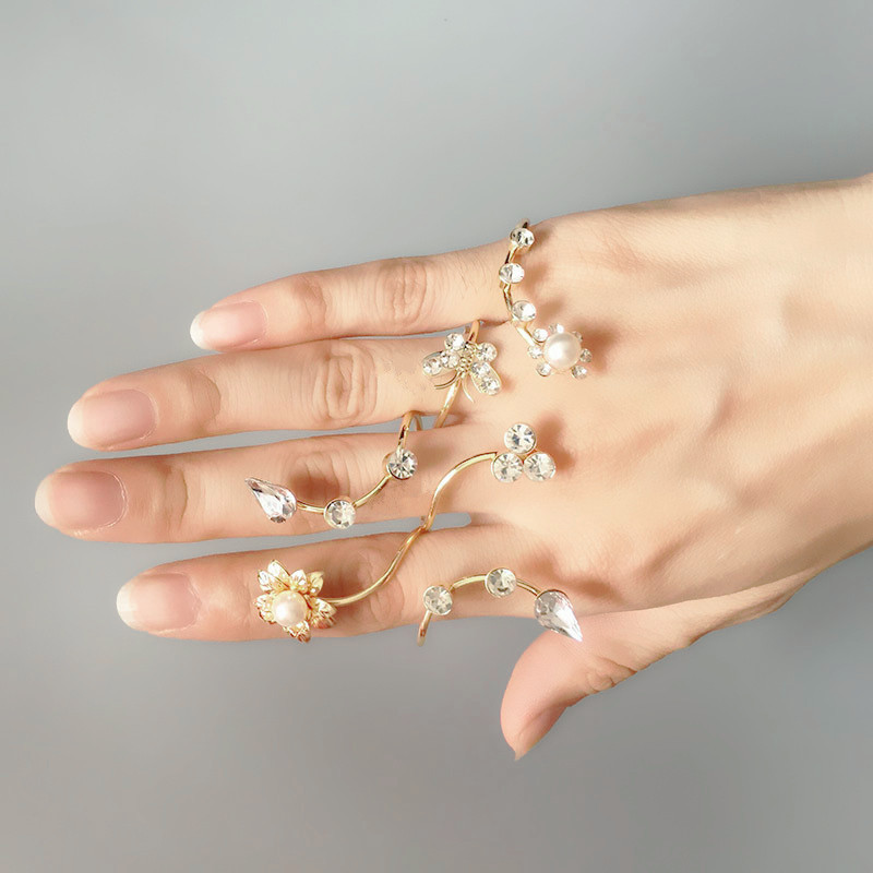 New fashion accessories jewelry rhinestone ring set for women girl nice gift r1493