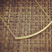 New fashion costume jewelry copper alloy tube collar necklace for women girl n1543 1