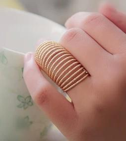 BAGUE MULTIRANGS DOREE BOHO BOHEME CHIC N0414