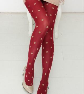 Collants pois boho boheme chic LEGG0035