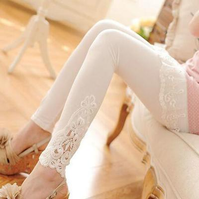 S 7xl plus size leggings women sport leggings lace decoration white leggings size 7xl 6xl 5xl