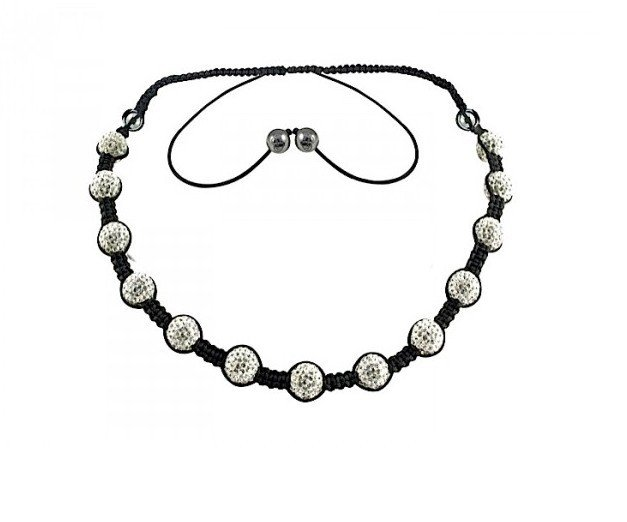 Shamballa necklace wholesale free shipping new shamballa necklace micro pave cz disco ball bead cjn 018