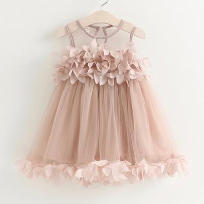 Sotida girls dresses 2017 sweet princess dress baby kids girls clothing wedding party dresses children clothing