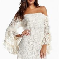 Top 2014 new long sleeved lace fringed horn new european and american fashion dress ladies fashion