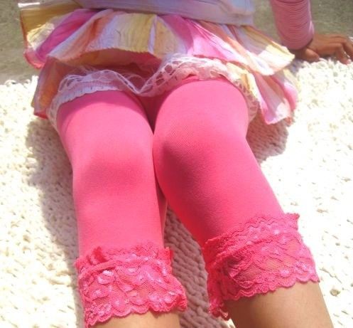 Top new girls velvet short baby girl candy color lace leggings 12 colors for 2 9