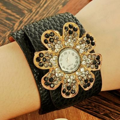 MONTRE FLOWER STRASS BOHO CHIC BOHEME N0157