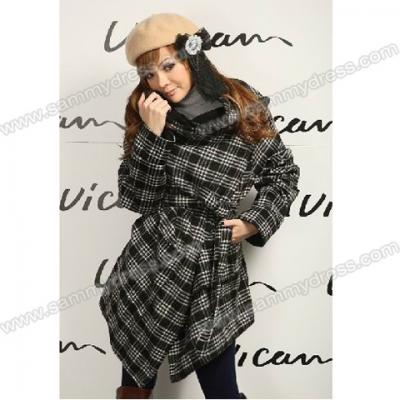 MANTEAU PLAID BOHO CHIC BOHEME G0078