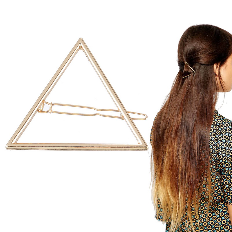 Women girls fashion hair pin bobby pins hollow out triangle hair clip hairpin wedding party hair