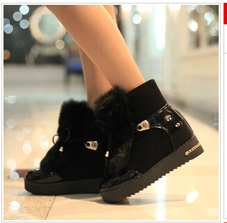 Women winter shoes fashion elegant lady s short boots winter warm fur women ankle boots warm 1