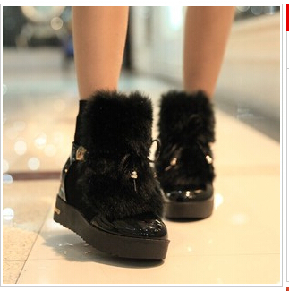 Women winter shoes fashion elegant lady s short boots winter warm fur women ankle boots warm
